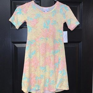Girls Lularoe Adeline Dress size  8 New with tags